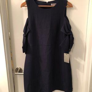 Chelsea28 Cold Shoulder Navy Shift Dress